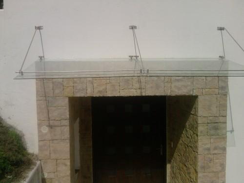 techo vidrio templada