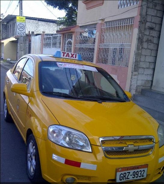 taxi con puesto en Guayaquil