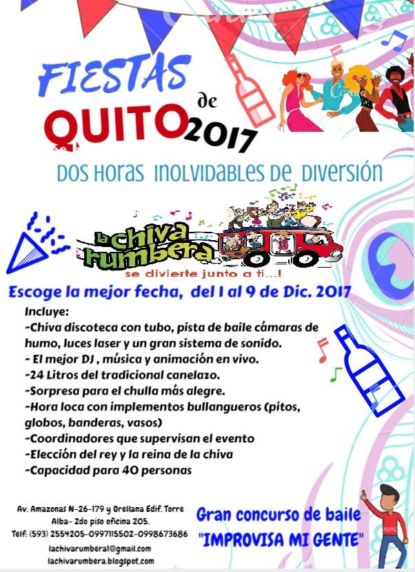 Alquiler de Chivas Quito 2018