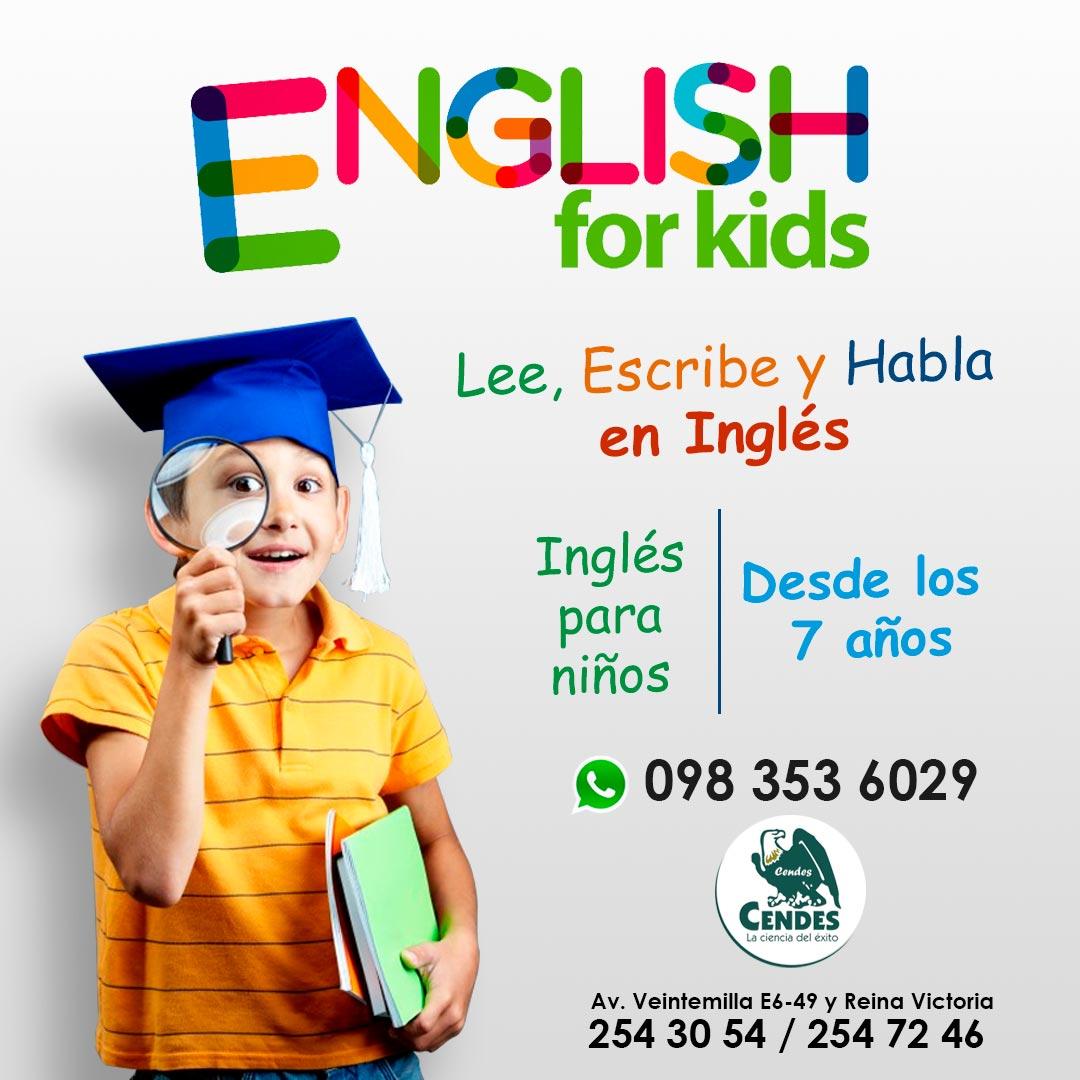 clases de ingles para niños